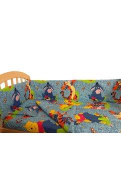 Lenjerie patut, 3 piese, Winnie si Aiurel, albastru 120 x 60 cm
