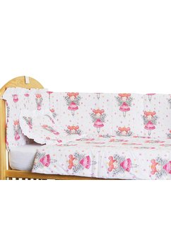 Lenjerie patut, 4 piese, Printesa Fluture, 120 x 60 cm