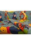 Lenjerie patut, 4 piese, Winnie si Aiurel, albastru 120 x 60 cm
