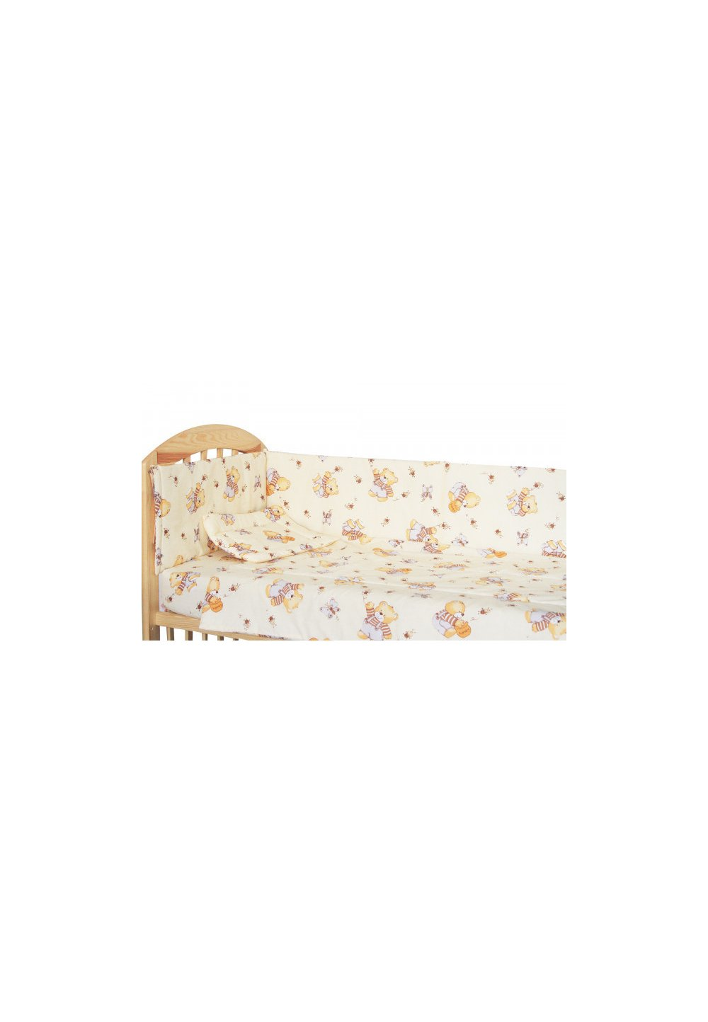 Lenjerie patut, 5 piese, Ursulet brownie, 140 x 70 cm imagine