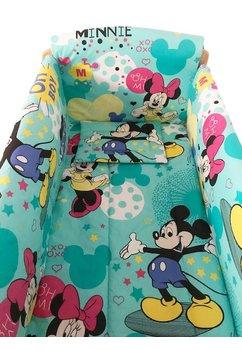 Lenjerie patut 7 piese, Maxi, Minnie si Mickey, 120 x 60 cm