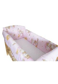 Lenjerie patut 7 piese, Maxi, ursuletul somnoros roz, 120x60 cm