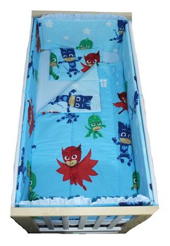 Lenjerie patut, Eroii in pijama, 5 piese, 120x60 cm