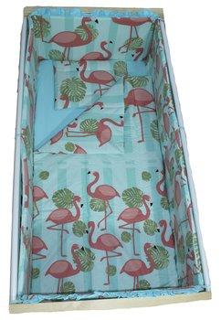 Lenjerie patut, Flamingo 5 piese, 140x70 cm