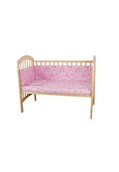 Lenjerie patut Hello Kitty, 5 piese,  roz deschis, 120x60 cm