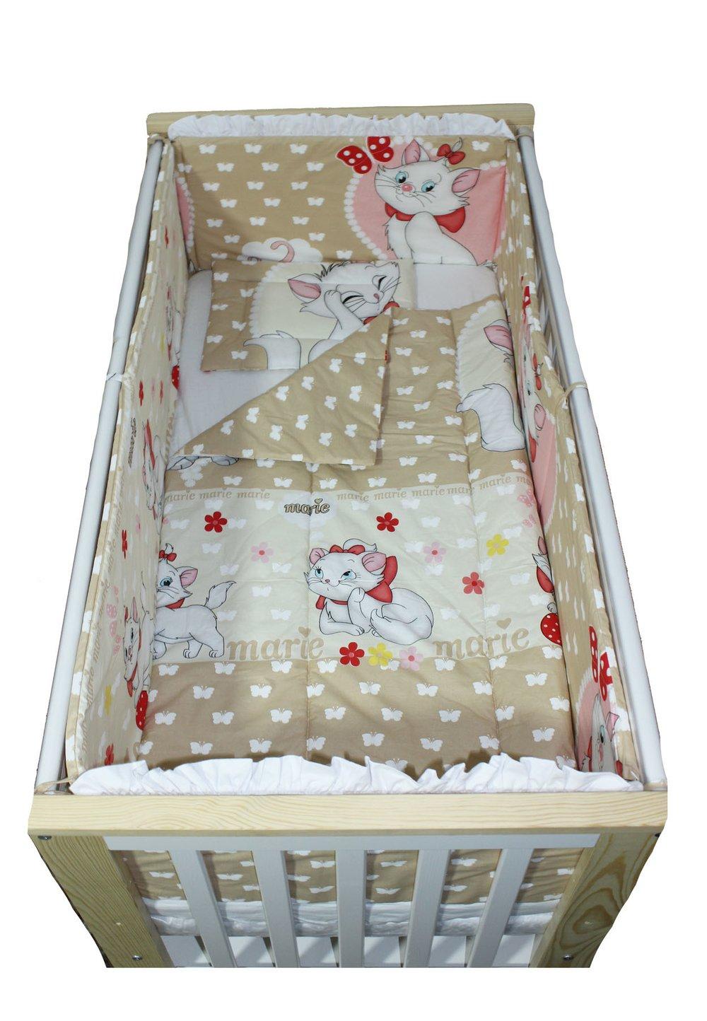Lenjerie patut, Marie, 5 piese, 120x60 cm imagine