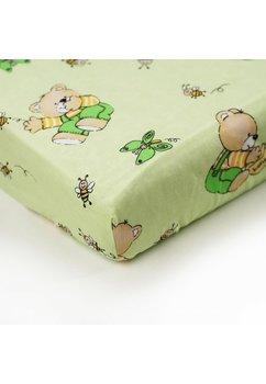 Lenjerie ursulet cu albinute verde,5 piese, 140x70cm