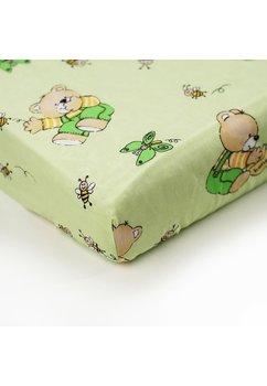 Lenjerie ursulet cu albinute verde,5 piese, 120 x 60