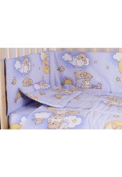 Lenjerie ursuletul somnoros,albastru 5 piese, 140x70cm