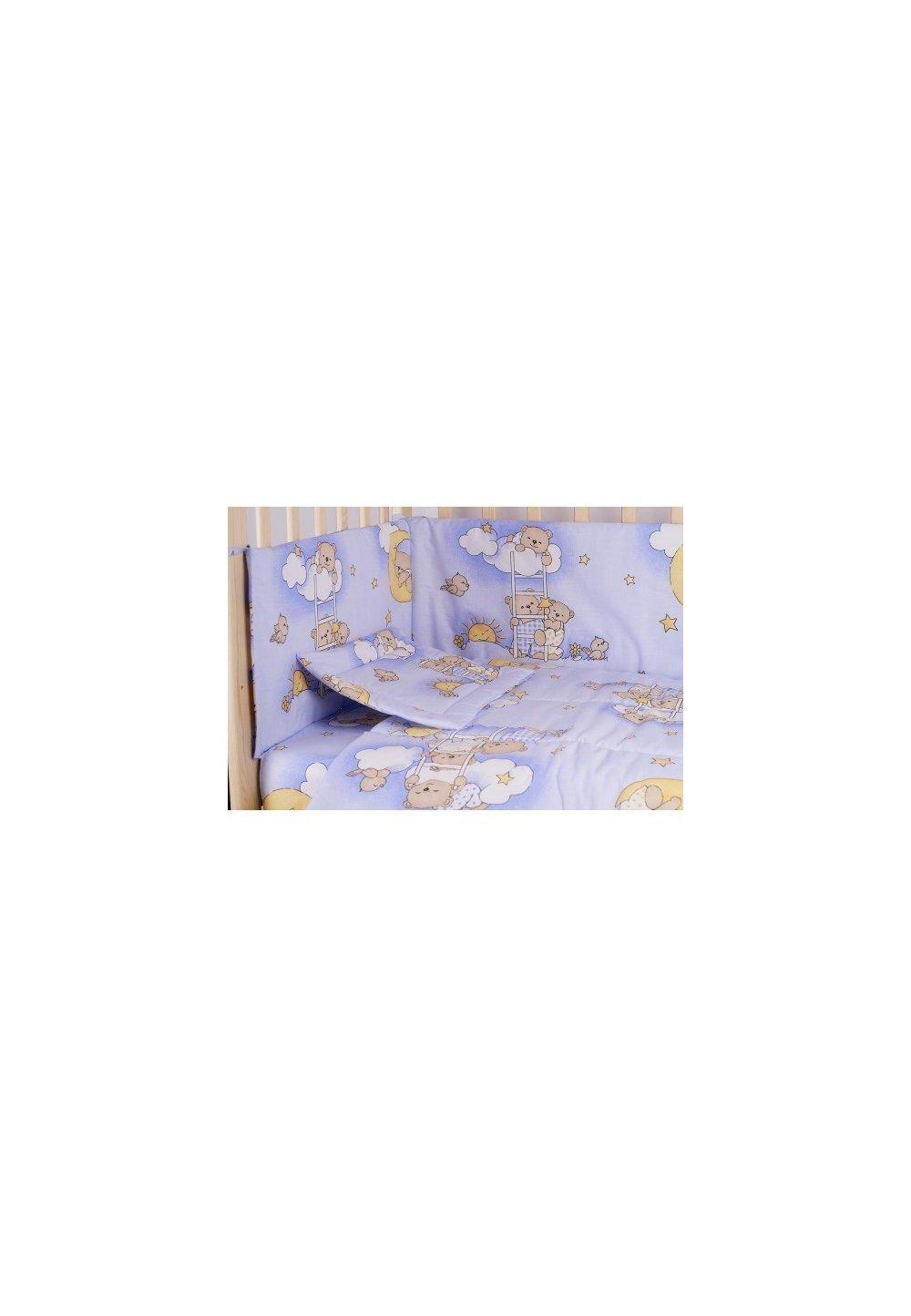 Lenjerie ursuletul somnoros,albastru 5 piese, 140x70cm imagine