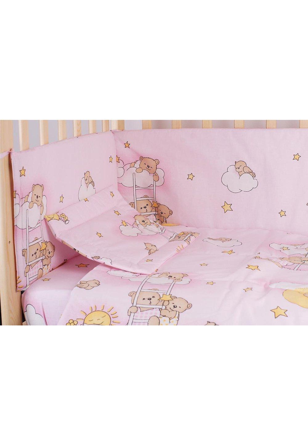 Lenjerie ursuletul somnoros,roz 4 piese imagine