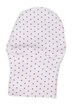 Manusi bebe, albe cu buline roz, 0-1 luni