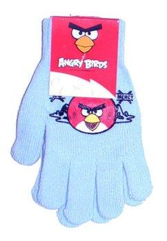 Manusi cu degete, Angry Birds, 3-7ani, albastru deschis