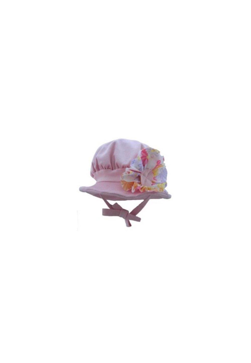 Palarie, catifea raiata, roz deschis imagine