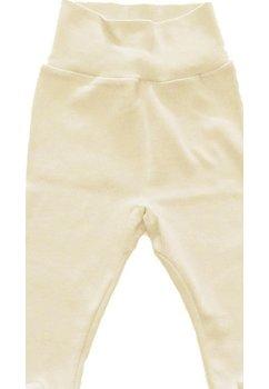 Pantaloni bebe crem deschis