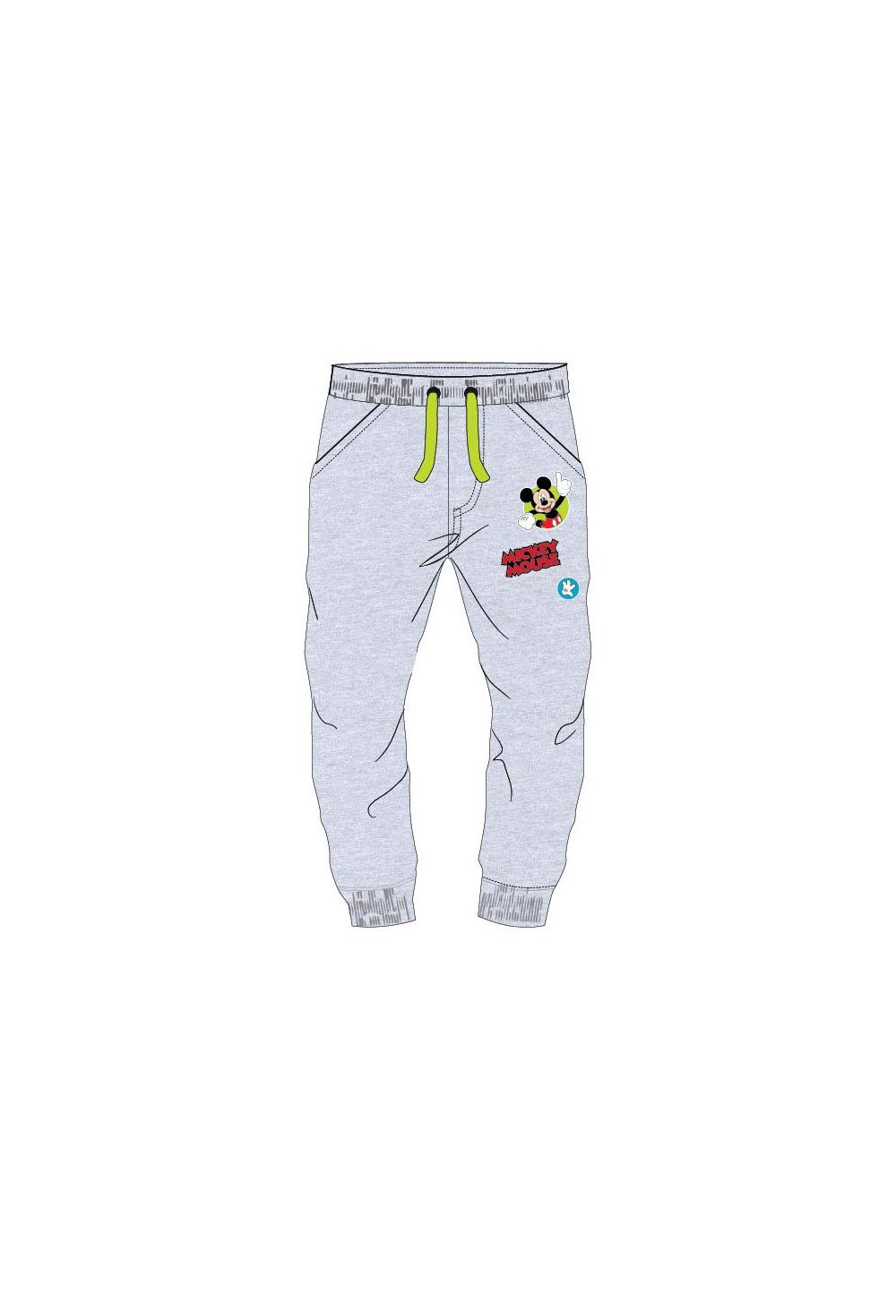 Pantaloni de trening, Happy Mickey, gri