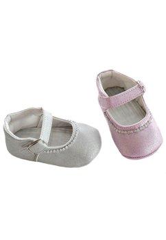 Papucei bebe, roz cu margelute