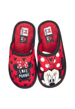 Papuci de casa, rosii, Love Minnie