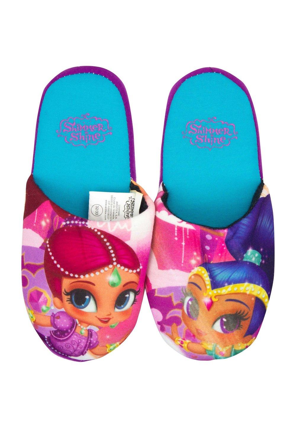 Papuci de casa, Shimmer and Shine, mov cu turcoaz imagine