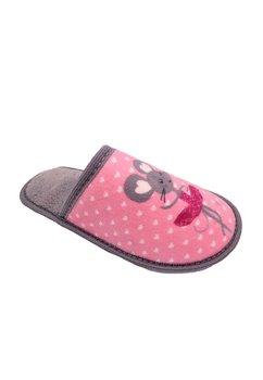Papuci de casa, Soricel, gri cu roz
