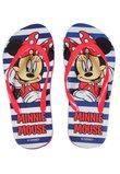 Papuci de plaja, Minnie Mouse, rosu cu bluemarin