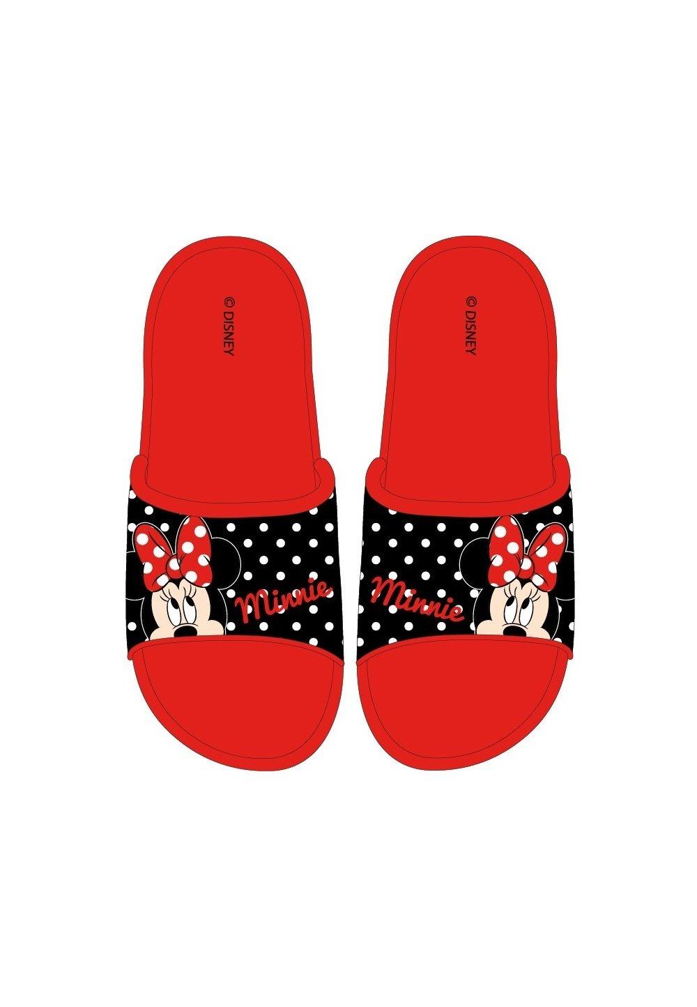 Papuci, Minnie Mouse, rosii cu buline imagine