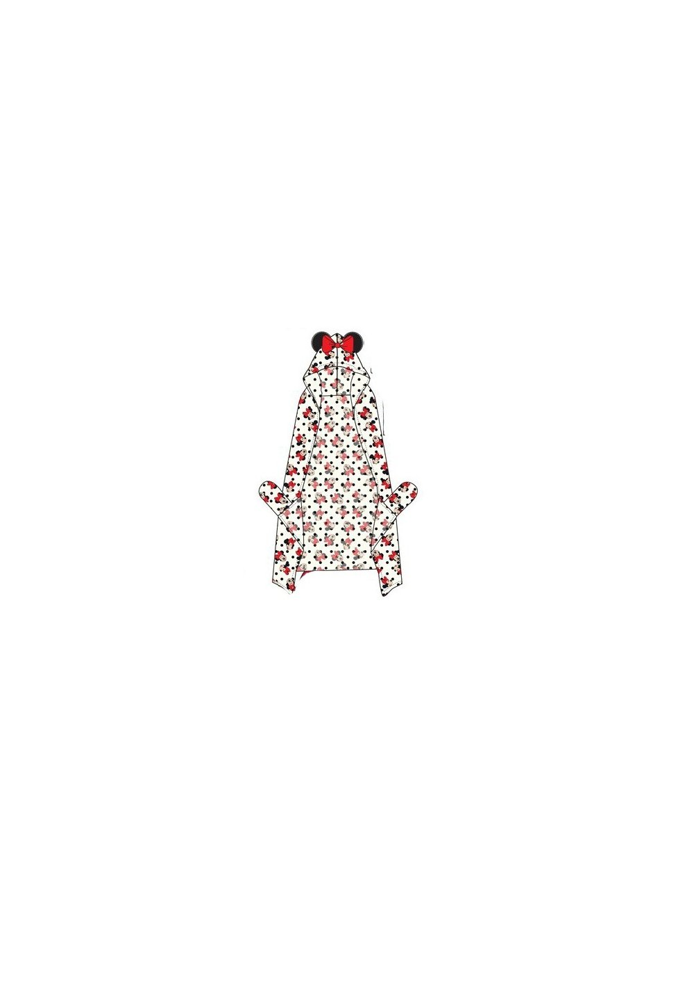 Paturica cu gluga, alba, Minnie Mouse imagine