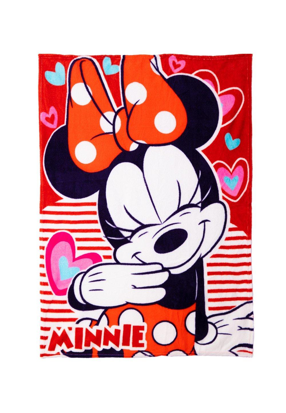 Paturica fleece, Love Minnie, 120x90cm imagine