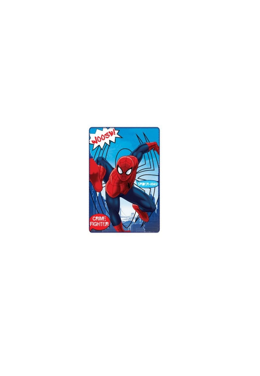 Paturica fleece, Spider-Man, crime fighter, 100x150cm imagine