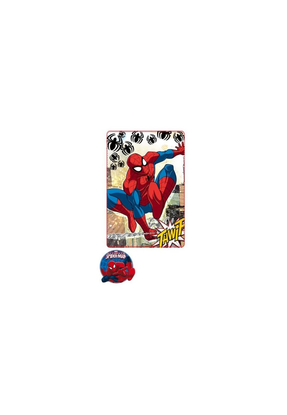 Paturica fleece, Spider-Man, Thwip 100x150cm imagine