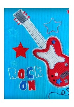 Paturica, Rock on, albastra, 76x102 cm