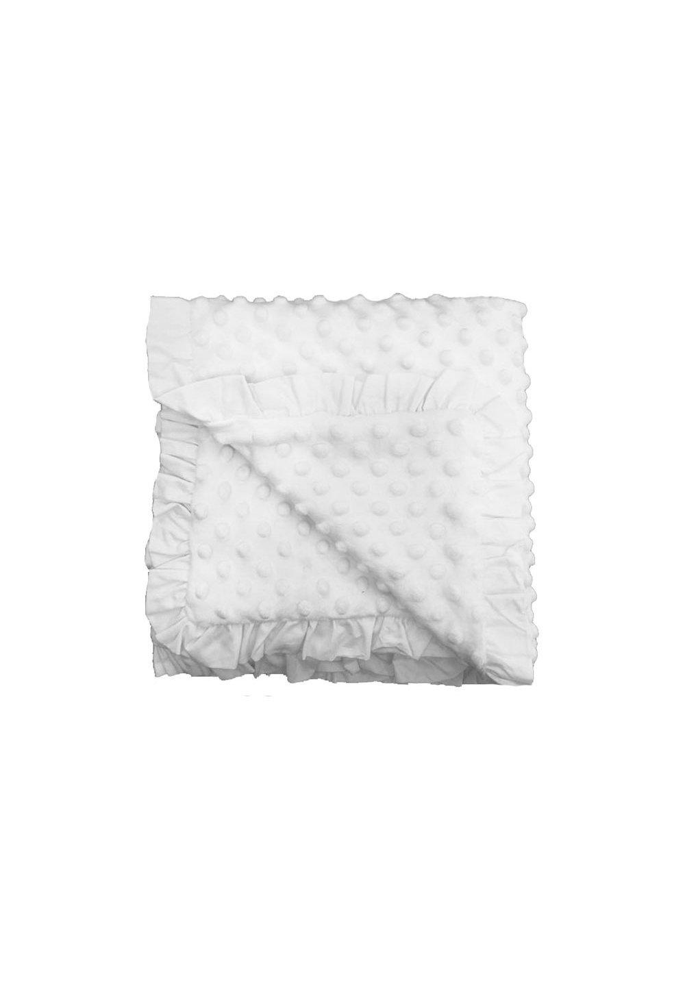 Paturica soft dubla, alba, 80x100cm imagine