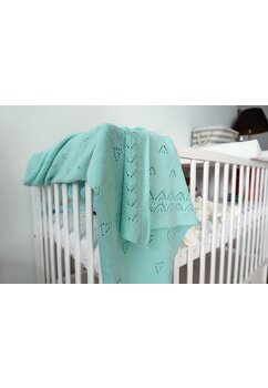 Paturica tricotata, Ana, verde, 90x90cm