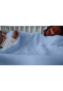 Paturica tricotata, Eva, albastra, 90x90cm
