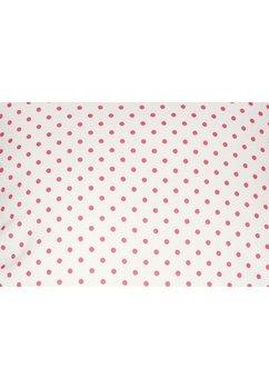 Perna, alb cu buline roz