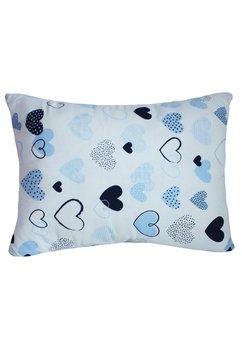 Perna, alba cu inimioare albastre, 30x40cm