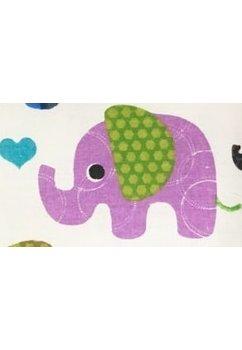 Perna, elefantei, turcoaz, 30x40cm