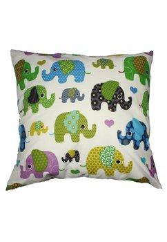 Perna, elefantei, turcoaz, 40x40cm