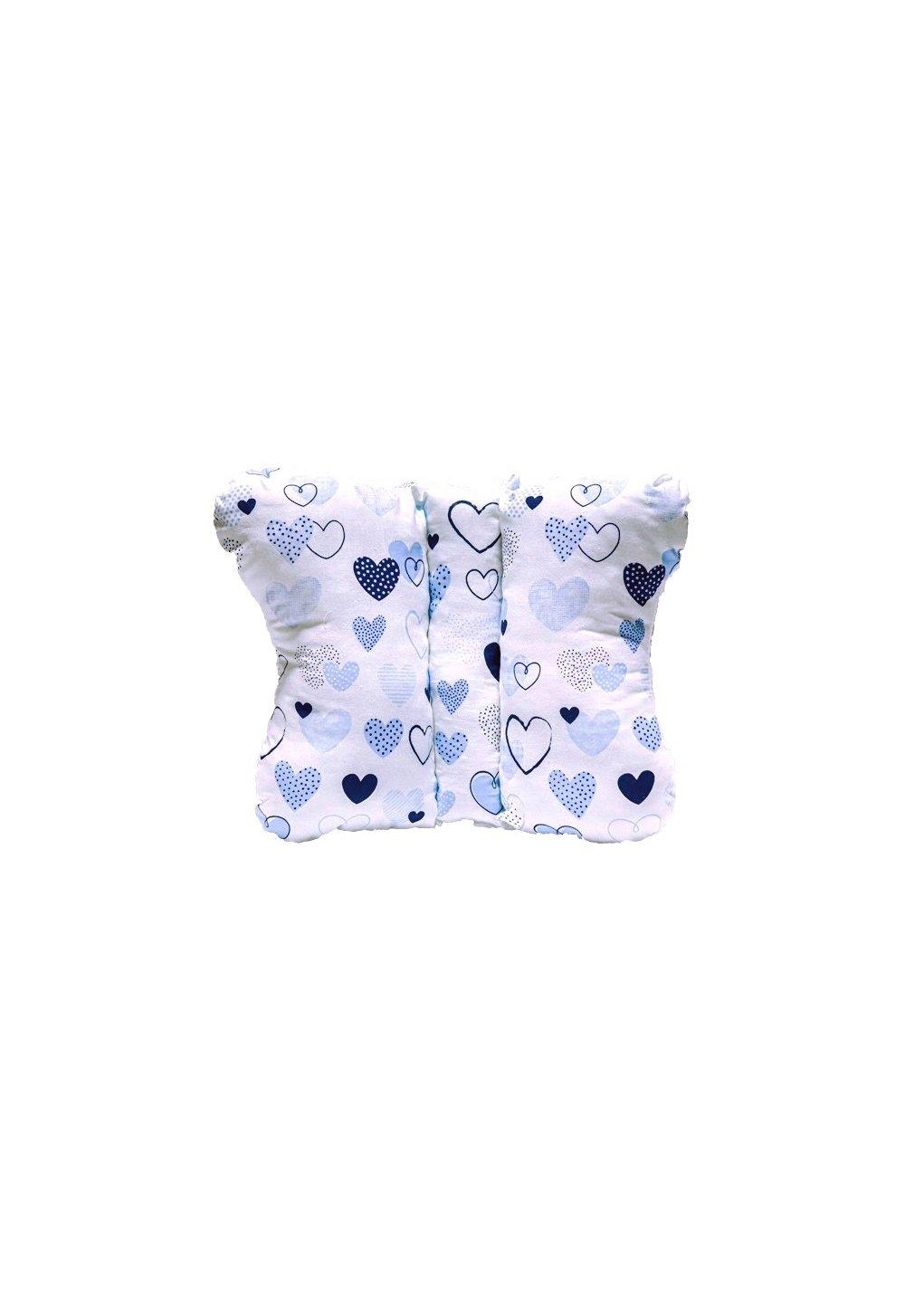 Perna fluturas, alba cu inimioare albastre imagine