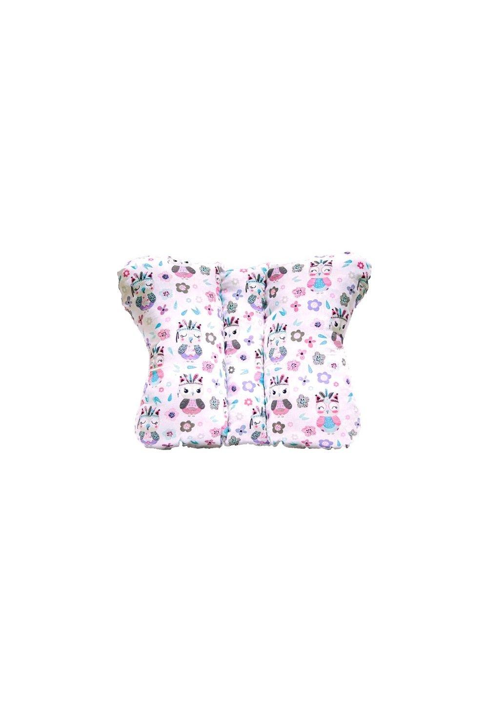 Perna fluturas, Bufnite mici, roz cu turcoaz imagine