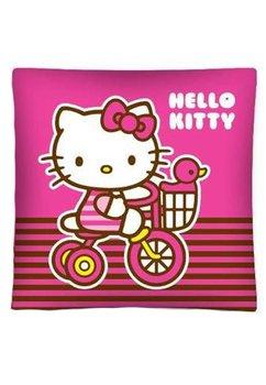 Perna, Hello Kitty, roz cu dungi, 40x40cm