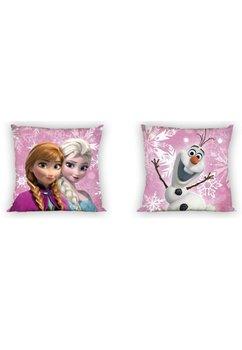 Perna, roz, Anna, Elsa si Olaf, 40x40cm