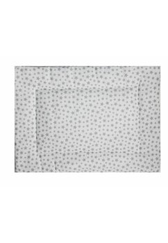 Perna slim, alb cu stele gri, 37x28cm
