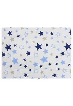 Perna slim, alba cu stelute albastre, 37x28cm