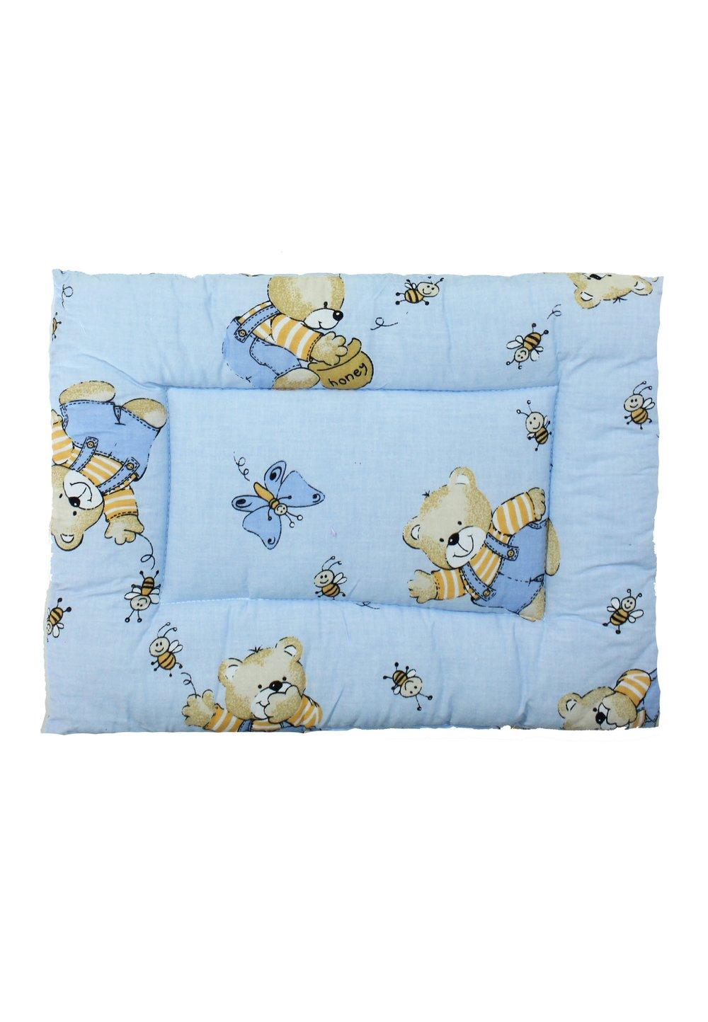 Perna slim, Ursuleti cu albinute, albastru, 37x28cm imagine