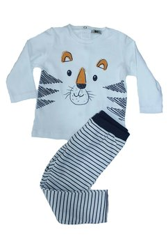 Pijama gradi, alba cu ursulet