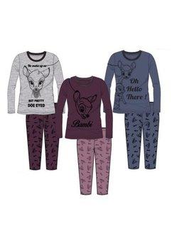 Pijama gri, pantalon 3/4, Bambi