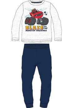 Pijama maneca lunga, Blaze, gri cu bluemarin