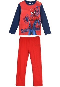 Pijama maneca lunga, The amazing Spider-man, rosie cu bluemarin