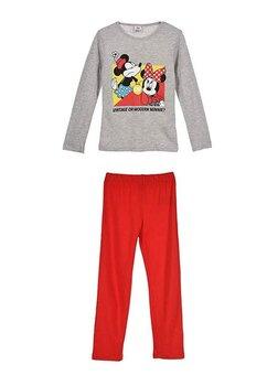 Pijama, maneca lunga, Vintage or modern Minnie, gri
